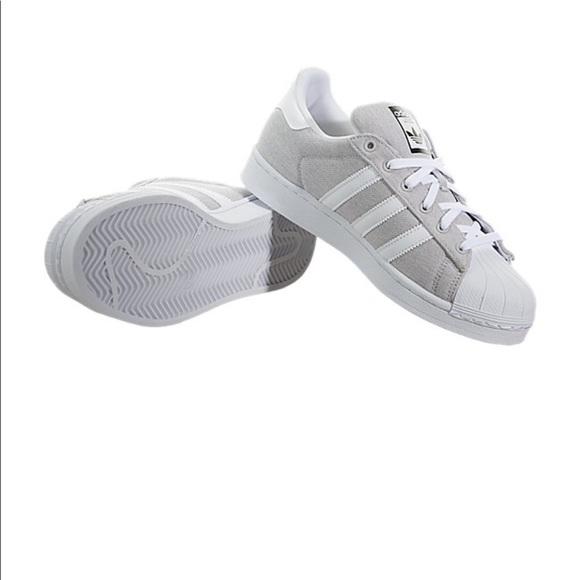adidas superstar light grey